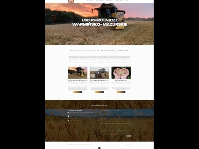 Tworzenie Stron Internetowych Portfolio Strony Internetowe Uslugi Rolnicze Rolne