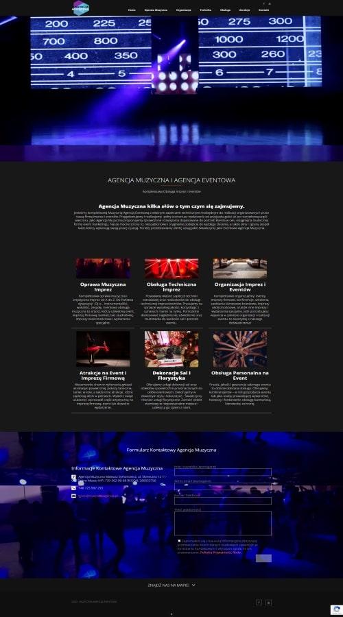 Tworzenie stron internetowych Przykladowe realizacje Strony Internetowe agencja muzyczna ms