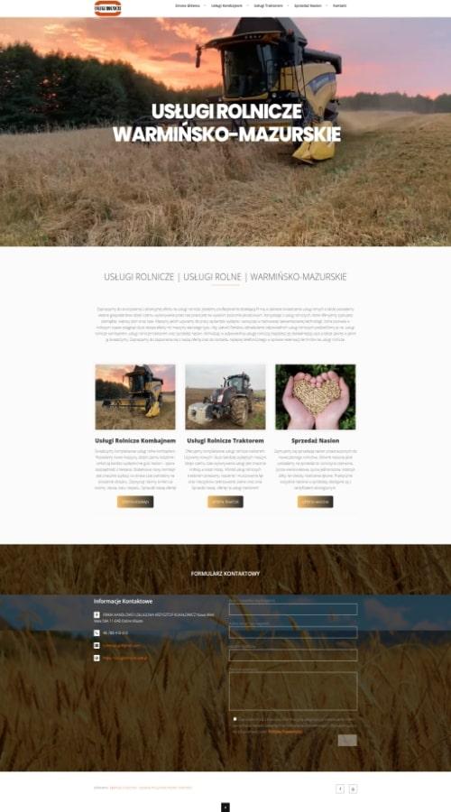 Tworzenie Stron Internetowych Przykladowe realizacje Strony Internetowe uslugi rolnicze rolne kk